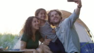 Family Camping Selfie