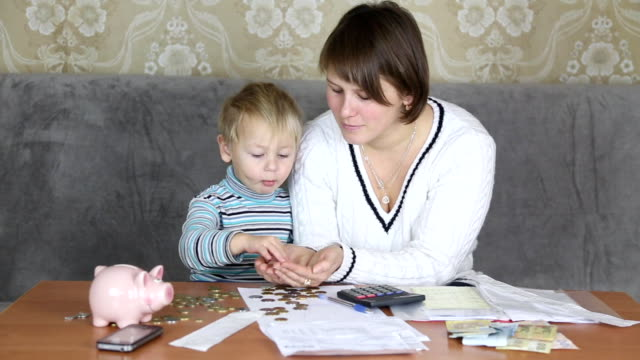 family engaged in household finances