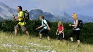 Famiglia godendo Hiking