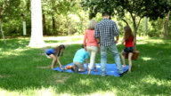 Family enjoys 4th of July picnic