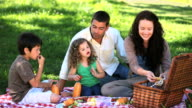 MS Family feasting at picnic in Park / Cape Town, Western Cape, South Africa