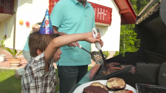 HD: Family Having Backyard Party
