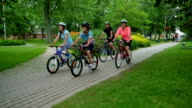 Family Healthy Lifestyle: Bicycling Together