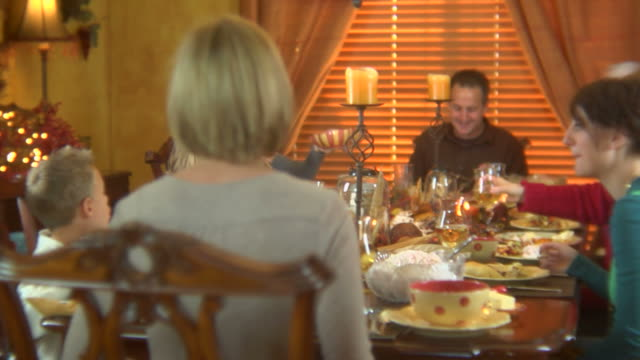 Familienurlaub-Abendessen