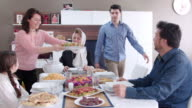 Family iftar meal in Ramadan