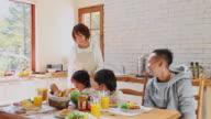 MS Family in kitchen / Fujikawaguchiko, Yamanashi, Japan