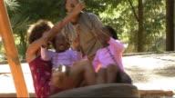 Family in Park on swing