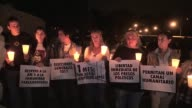 Family members of jailed Venezuelan opposition leader Leopoldo Lopez hold a vigil outside the prison where he is serving a nearly 14year sentence on...