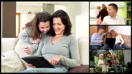 HD MONTAGE: Family Members On Multi Video Conference