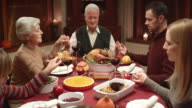 Family prayer at the Thanksgiving table