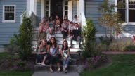 MS family protrait on front steps of home / Portland, United States