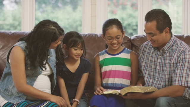 Family Reading Bible Together