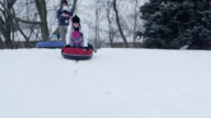 Family Snow Tubing