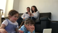 Family use wireless devices at home
