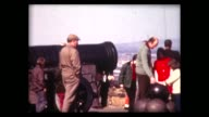1973 family visits large cannon and cannon balls in Edinburgh