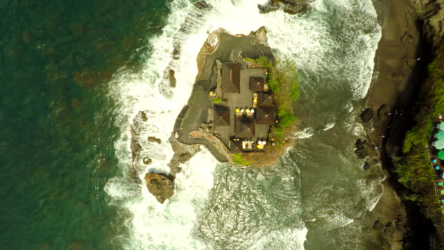 AERIAL Famous Tanah Lot Temple