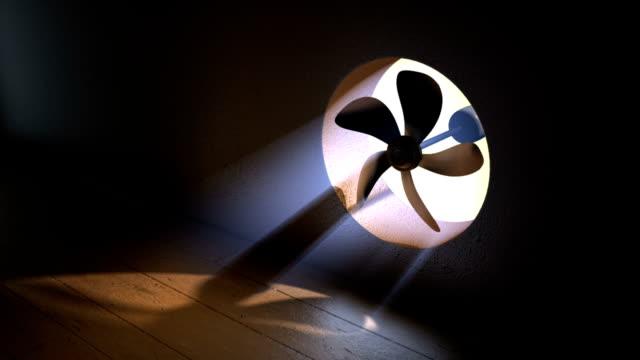 Fan With Volumetric Light