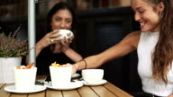 Fancy women having brunch in London