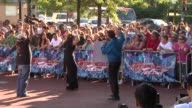 fans and signage at 'America's Got Talent' Red Carpet at New Jersey Performing Arts Center on July 02 2012 in Newark New Jersey