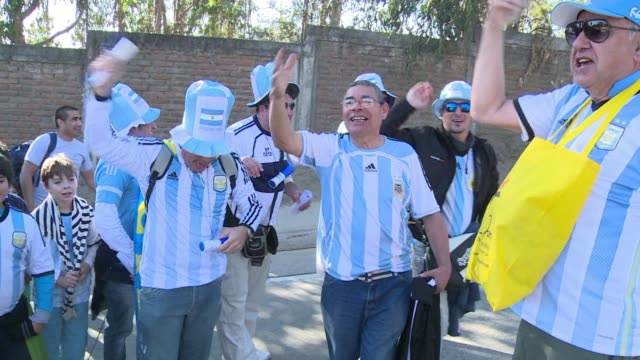 Fans arrive at Vina del Mars El Sausalito stadium in Chile ahead of the ArgentinaJamaica faceoff at the Copa America