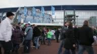 Fans arriving to the VelltinsArena prior to the Bundesliga match between FC Schalke 04 and TSG 1899 Hoffenheim at VeltinsArena on March 30 2013 in...