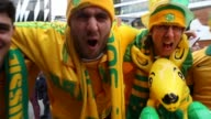 Fans at the 2018 FIFA World Cup Qualifier match between the Australian Socceroos and Japan at Etihad Stadium on October 11 2016 in Melbourne Australia