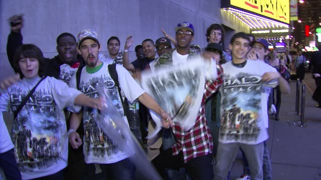 fans at the 'HaloReach' Midnight Madness Launch Event with Kid Cudi at New York NY
