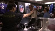 Fans buy new NFL jerseys at Nike Celebrates NFL Uniform Retail Launch at Niketown New York with Fans Athletes and Entertainers on 4/27/2012 in New...