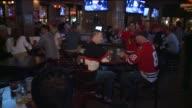 WGN Fans Celebrate Blackhawks Win At Bar on June 12 2013 in Chicago Illinois