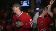 WGN Fans Celebrate Chicago Blackhawks Win on June 12 2013 in Chicago Illinois