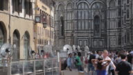 Fans & Duomo, Piazza del Duomo, Florence, Tuscany, Italy, Europe