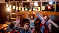 Fans in pub