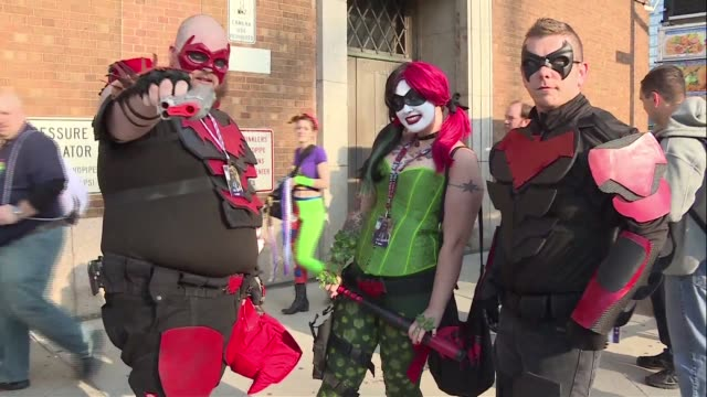 Fans of comic books sci fi and computer games arrived dressed in elaborate costumes at New Yorks Comic Con event on Thursday