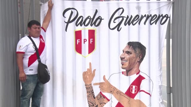 Fans of Peru captain Paolo Guerrero show their disappointment anger and artistic talents as they take in the news that their team leader will miss...