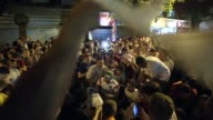 WS Fans of the England football team sing and dance outside bars in the centre of Belo Horizonte after watching England play Costa Rica on June 24...
