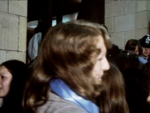 Fans of The Osmonds queue to enter venue for concert 1973