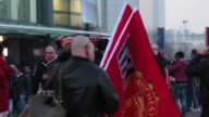 Fans outside Old Trafford Old Trafford General Views at Old Trafford on March 05 2013 in Manchester England