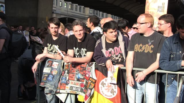 Fans wait to see AC/DC at the 'Live At River Plate' DVD World Premiere AC/DC 'Live At River Plate' DVD World Premiere at Hammersmith Apollo on May 06...