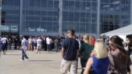 MS Fans walking toward and entering Cowboys Stadium / Arlington, Texas, United States