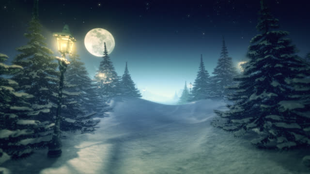 Fantastic winter landscape turquoise green tinted center space for content