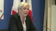 Far right National Front leader Marine Le Pen looks for partners in the EU parliament to create a block in the European Union
