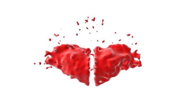 Far version, Exploding Heart, Two half-heart colliding.