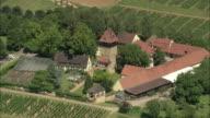 AERIAL Farm and vineyards, Albersweiler, Rhineland, Germany