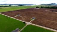 Farm, fields, crops, landscape, panorama