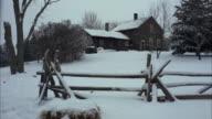 MS farm house in deep snow