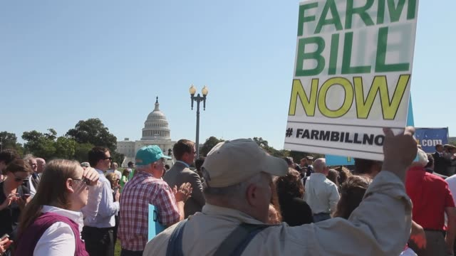 farm rally supporters of Farm Bill legislation rally at the Capitol building general views of rally signage protests farm bill Farm Rally in...