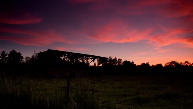 CRANE UP: Farm Sunset