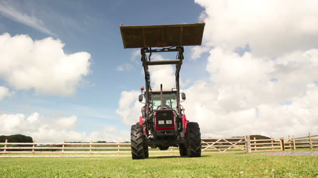 Farm Tractor riding over camera (Agriculture)