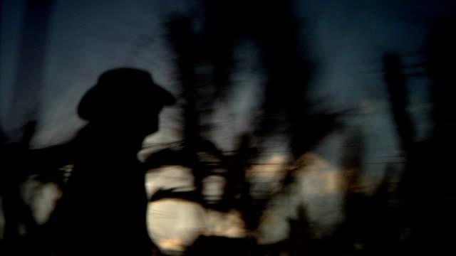 Agricoltore silhouette di