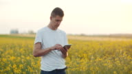 Farmer using Digital Tablet Computer